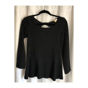 Black Long Sleeve Top from Anthropologie